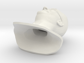 tapass Bust in White Natural Versatile Plastic