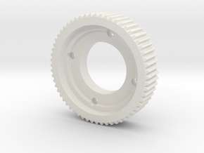 Engrenage in White Natural Versatile Plastic