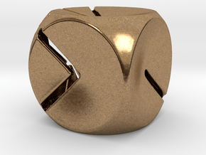 L'Indécis (16mm - metal) in Natural Brass
