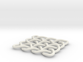 Celtic Knot 2D, seed 12 in White Natural Versatile Plastic