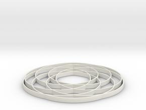 torus knot  fantasy 7-6 2D in White Natural Versatile Plastic