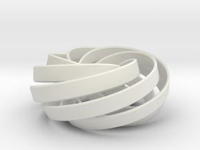 torus knot fantasy 7-6 3D in White Natural Versatile Plastic