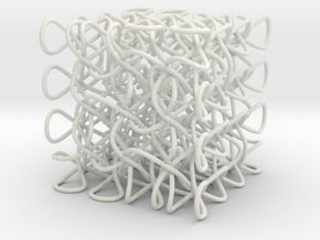 Celtic Knot 3D, seed 12 in White Natural Versatile Plastic