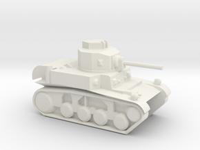 M3 Stuart (6mm, 1:300 scale) in White Natural Versatile Plastic