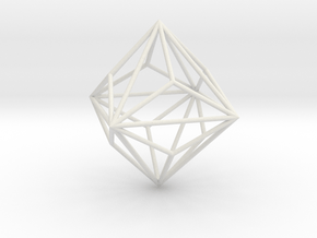 SmallTriakisOctahedron 70mm in White Natural Versatile Plastic