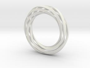 Twist Bracelet (XS) in White Natural Versatile Plastic