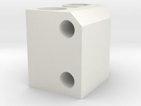 pb X Idler in White Natural Versatile Plastic