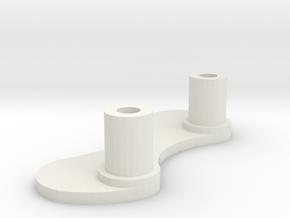 pb Y Bearing Guide in White Natural Versatile Plastic