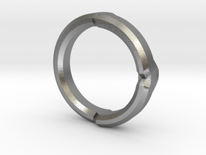 DG Ring 4 in Natural Silver