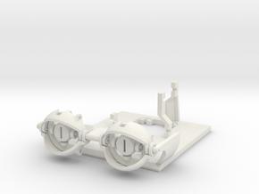 18 - 20mm Eye Gimbal  in White Natural Versatile Plastic