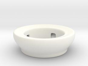 Fake Bowl  in White Processed Versatile Plastic