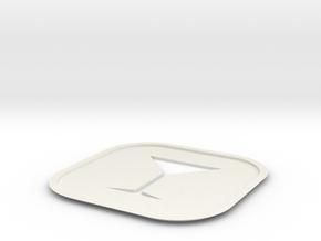 Martini Coaster  in White Natural Versatile Plastic