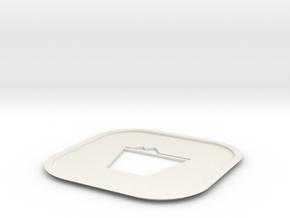 Rocks Coaster in White Natural Versatile Plastic
