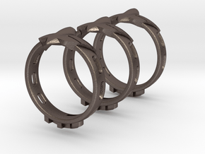 EagleJet RH Ring in Polished Bronzed Silver Steel