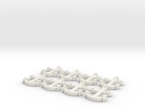 Anchor Buttons in White Natural Versatile Plastic