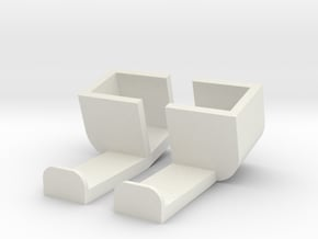 iPhone Car Holder in White Natural Versatile Plastic