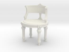 1:24 Vanity Chair in White Natural Versatile Plastic