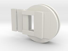 """Fluebasev3-less-125ver-dbl (1 1/4"""" models only!) in White Natural Versatile Plastic"""