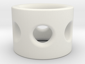 Gear Bolt Sleeve in White Natural Versatile Plastic