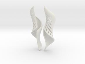 March Earrings Pair. in White Natural Versatile Plastic
