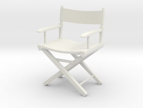 1:24 Director's Chair 1 (Not Full Size) in White Natural Versatile Plastic