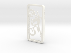 iPhone 5 case for Supermoto personalized with name in White Processed Versatile Plastic