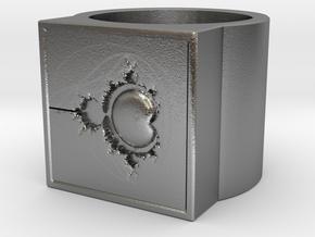 Fractal Ring - Mandelbrot 0 (19mm) in Natural Silver