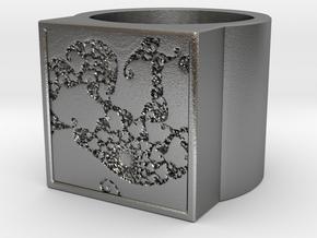 Fractal Ring - Sample5 0 (19mm) in Natural Silver