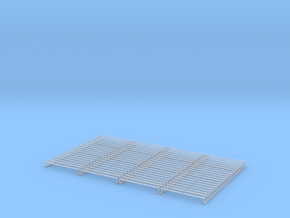 A14 N stake pockets with stakes, single staple x16 in Smooth Fine Detail Plastic