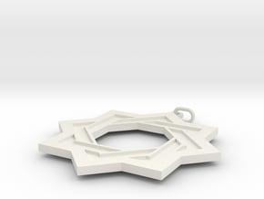 Star in White Natural Versatile Plastic
