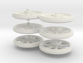 Wheels 2de Serie in White Natural Versatile Plastic