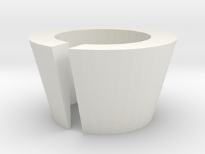 Circular Barrel Shim (Slotted) in White Natural Versatile Plastic
