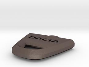 Dacia Keychain in Polished Bronzed Silver Steel
