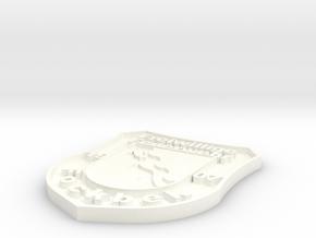 Wappen Feuerwehr Fockbek 10 in White Processed Versatile Plastic