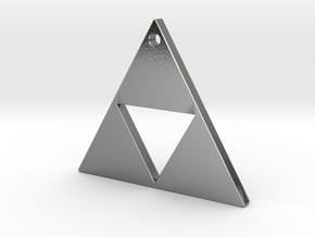 Triangle Pendant 2.3cms in Polished Silver