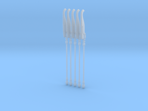Techno-Bill 001a (x5) in Smooth Fine Detail Plastic