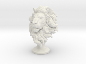 Lion Chess Piece 50mm in White Natural Versatile Plastic