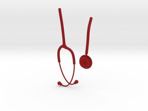 Stethoscope Burgundy V3 in Full Color Sandstone