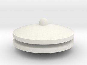 Danger Ball End Pieces in White Natural Versatile Plastic