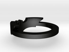 BATMAN ring size 12 in Matte Black Steel