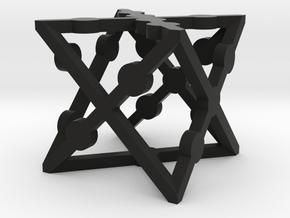 xCube Dice (1 Die) in Black Natural Versatile Plastic