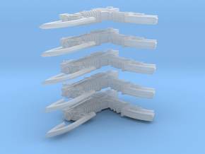 Advanced Gyrojet Rifle 002a (x5) in Smooth Fine Detail Plastic
