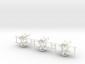 1/350 E-1 Tracer (x6) in White Natural Versatile Plastic