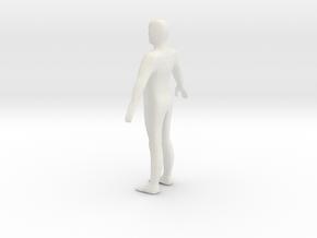 A Pose Humanoid in White Natural Versatile Plastic