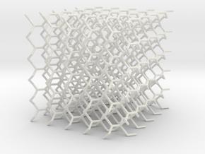 (10,3) Lattice 5x5x5 in White Natural Versatile Plastic