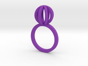 Sphere outlines ring in Purple Processed Versatile Plastic