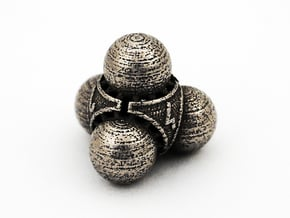 Nucleus D4 in Polished Bronzed Silver Steel