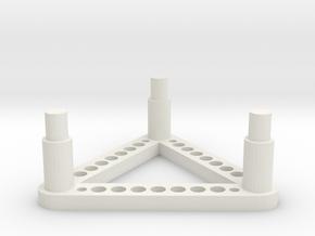 RO90-Triangle in White Natural Versatile Plastic
