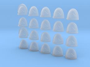 20 28mm Custom Shoulder Pad Razorback in Smooth Fine Detail Plastic