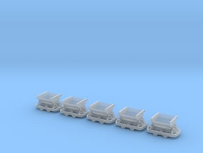 IJ's Nn3 'V' Tipper Wagon (5 off) in Smooth Fine Detail Plastic